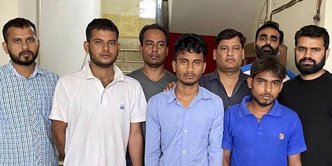 The arrested culprits