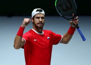 Russsian player Karen Khachanov