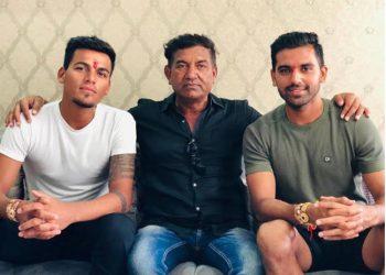 (From left): Rahul Chahar, Lokendrasingh Chahar and Deepak Chahar