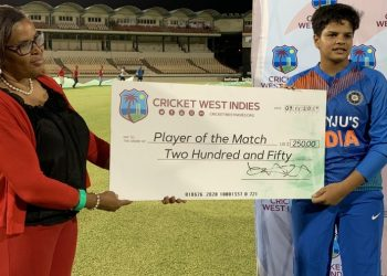 Shafali Verma was adjudged 'player of the match'.
