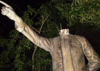 Biju Patnaik statue vandalized, tension grips Rajnagar