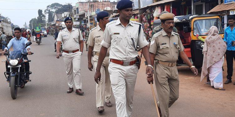 Tight security ahead of Xmas at Daringbadi, Brahmaniga