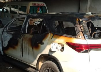 Miscreants set MLA's vehicle, ambulance on fire in Talcher