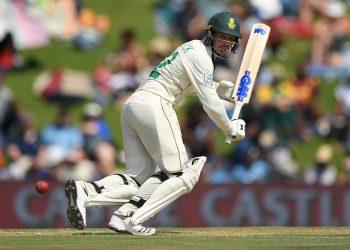Quinton de Kock hits out during Test against England, Thursday