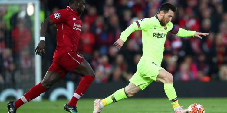 Sadio Mane (left) and Lionel Messi.
