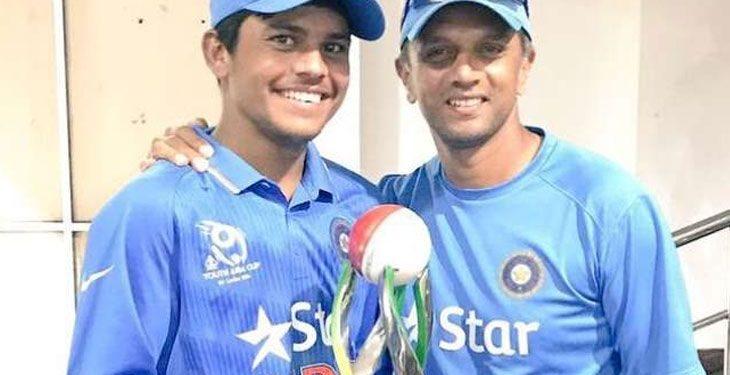 Priyam Garg with Rahul Dravid