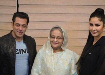 Salman and Katrina with Bangladeshi PM Sheikh Hasina