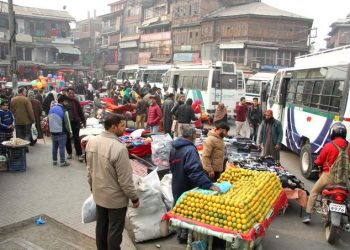 A market place in Srinagar