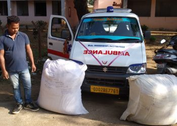 82 kg cannabis seized from ambulance, two arrested