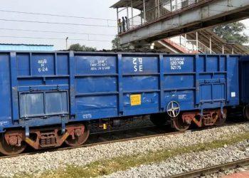 Coal-laden freight train catches fire in Ganjam