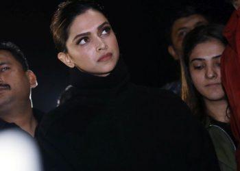 Actor Deepika Padukone at JNU Tuesday
