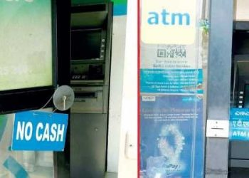 ATMs in several areas are running dry, forcing people to run from one bank to another in search of cash
