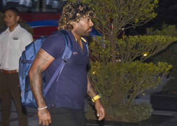 Captain of the Sri Lankan cricket team Lasith Malinga upon his arrival at Guwahati, Thursday