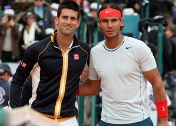Novak Djokovic (left) and Rafa Nadal