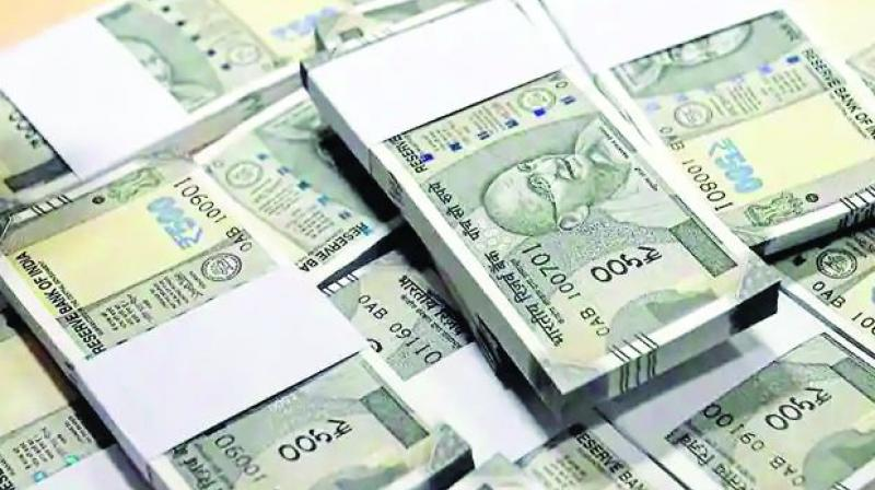 At the interbank foreign exchange the rupee opened at 72.50, then gained further ground and touched a high of 72.43 against the US dollar, registering a rise of 33 paise over its previous close.