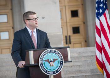 US Secretary of Army Ryan D McCarthy