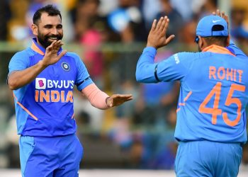 Mohammed Shami was the star performer with the ball for India picking up four wickets
