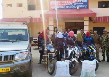 29 kg cannabis seized in Deogarh, five arrested