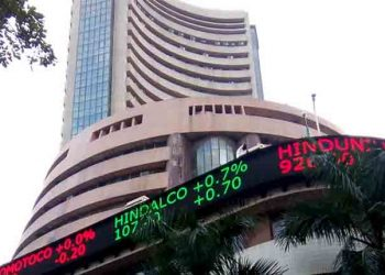 After hitting a record peak of 42,009.94, the 30-share BSE index was trading 127.65 points or 0.30 per cent higher at 42,000.38.