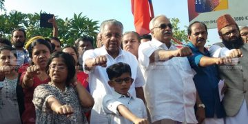 Kerala opposes CAA by forming 62 km long human chain