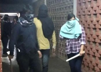 Masked hooligans thrashed students, teachers and faculty at JNU.