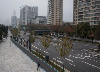 Wuhan City now wears a deserted look