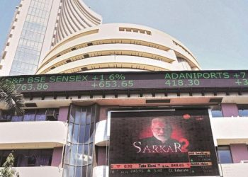 After sinking over 2,152 points, the BSE barometer was trading1812.19 points or6.28per cent lower at 27,057.32 at 0930 hours.