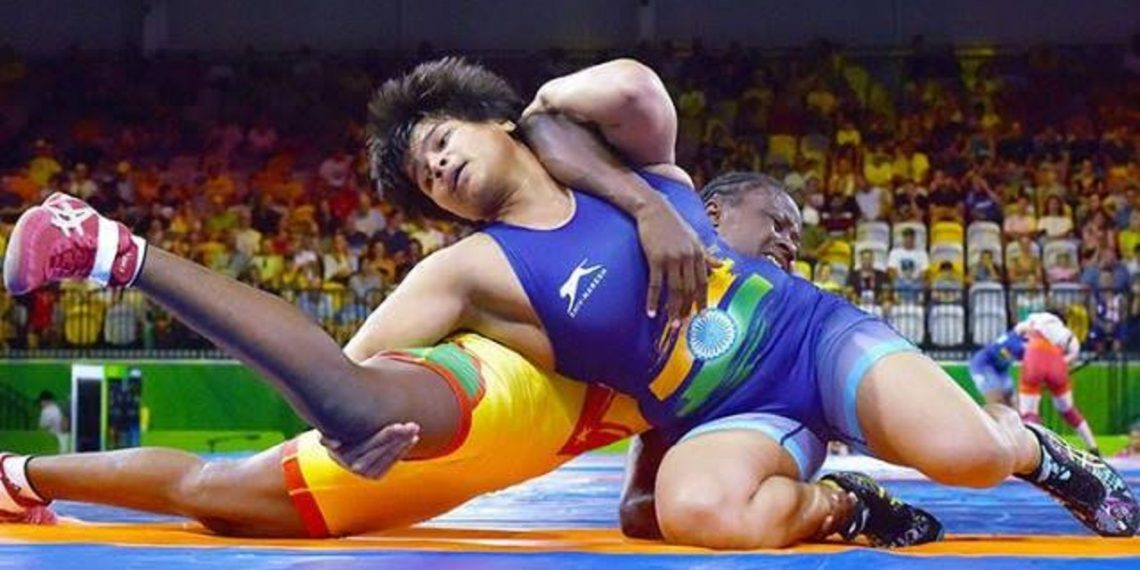 Divya Kakran (in blue, File photo)