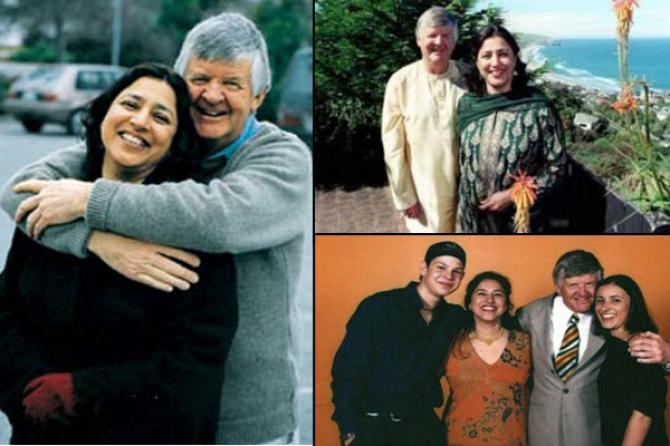 Sukhi and Glenn Turner with their kids