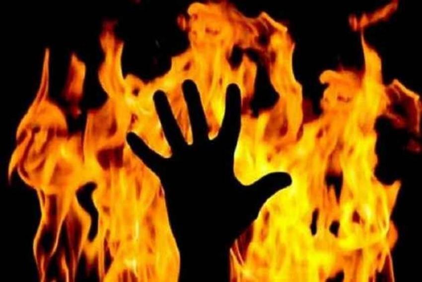 'Set ablaze' for delivering a baby girl