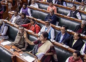 Nirmala Sitharaman speaks in the Lok Sabha, Tuesday
