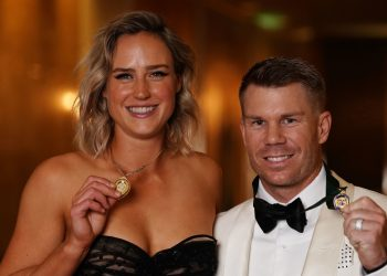 Ellyse Perry and David Warner