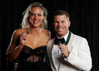 Ellyse Perry (L) and David Warner