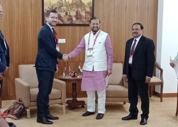 Union Minister for Environment, Forests and Climate Change Prakash Javadekar and Norwegian Minister of Climate and Environment Sveinung Rotevatn.