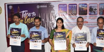 OTDC chairperson Shreemayee Mishra and other dignitaries unveil the package