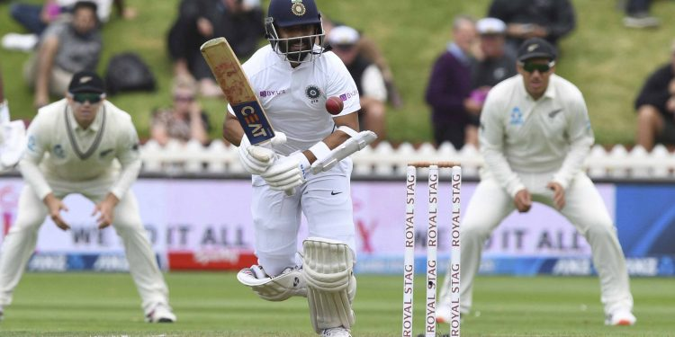Ajinkya Rahane has so far held the innings together with a tenacious knock