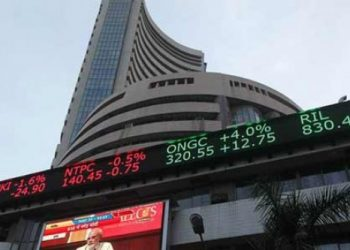 After spiking 573.07 points, the BSE barometer gave up all gains to trade195.57 points or0.69per cent lower at 28,092.66.