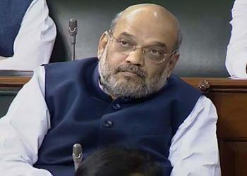 Amit Shah in the Lok Sabha, Wednesday