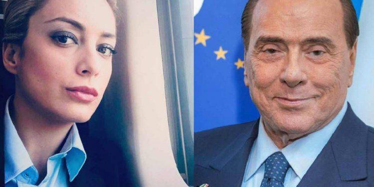Silvio Berlusconi with Marta Fascina