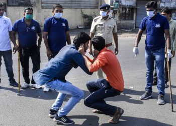 Lockdown violators being disciplined in Mumbai