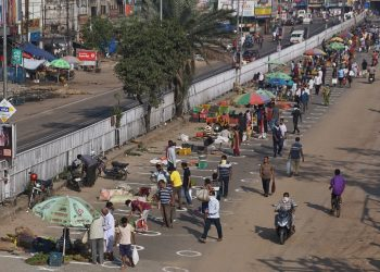 Greengrocers of Chhatrabazar in Cuttack relocated to the main road at Badambadi
