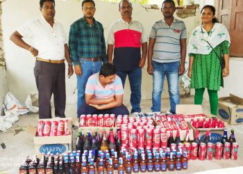 Excise officials seize Illegal liquor in Malkangiri, one arrested