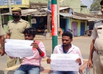 Kandhamal police shames lockdown violators