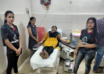 Blood donation camp organised at Bolangir amid lockdown