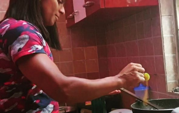 Sprinter Dutee Chand tries her hand at cooking