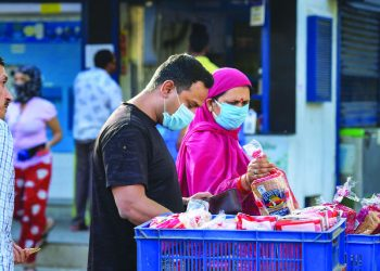 Denizens not wearing masks fined in Aska