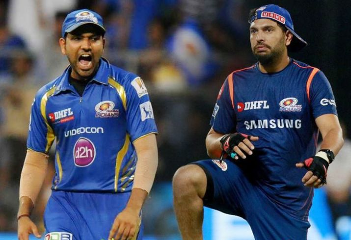 Yuvraj Singh played his last season for MI under the Captaincy of Rohit Sharma