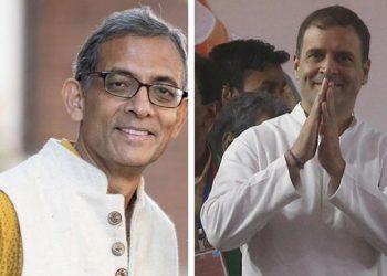 Abhijit Banerjee and Rahul Gandhi