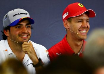 Carlos Sainz and Sebastian Vettel
