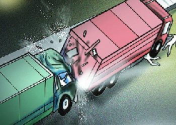 Cuttack: Six Odia migrant workers, two drivers injured in bus-trailer collision